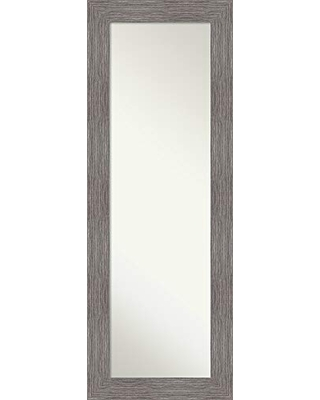 Amanti Art Full Length Mirror | Pinstripe Plank Grey Mirror Full Length | Full Body Mirror | On The Door Mirror 19.38 x 53.38 in.