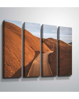 """Latitude Run 'Painted Hills Boardwalk' Photographic Print Multi-Piece Image BF005164 Format: Wrapped Canvas Size: 36"""" H x 48"""" W x 2"""" D"""