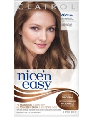 Clairol Nice 'n Easy Permanent Hair Color, 6G 116A Natural Light Golden Brown   CVS