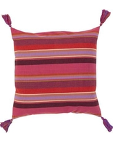 """World Menagerie Curry and Tassel Cotton Throw Pillow WLDM7825 Size: 22"""" H x 22"""" W x 4"""" D Filler: Polyester"""