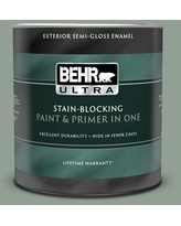Find Deals On Behr Marquee 1 Qt N400 4 Forest Path Semi Gloss Enamel Exterior Paint Primer