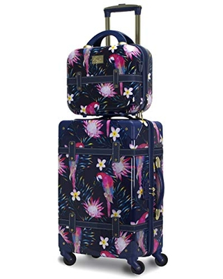 Chariot Gatsby 2-Piece Hardside Carry-On Spinner Luggage Set, Parrot, (Tote/20-Inch)