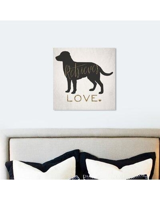 """Art Remedy Dogs and Puppies 'Retriever Love' Graphic Art Print on Wrapped Canvas 18430_XHD Size: 30"""" H x 30"""" W x 1.5"""" D"""