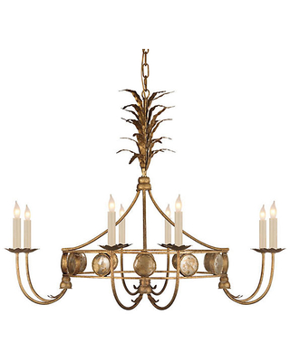 "36"" Gramercy Chandelier - Gilded Iron - Visual Comfort & Co."