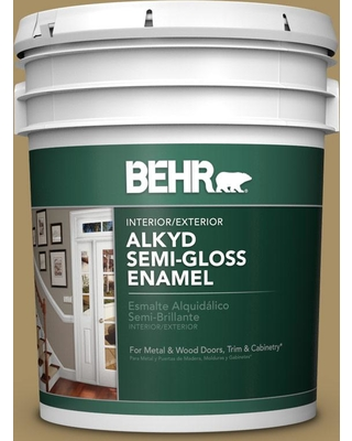 BEHR 5 gal. #350F-6 Fossil Butte Urethane Alkyd Semi-Gloss Enamel Interior/Exterior Paint