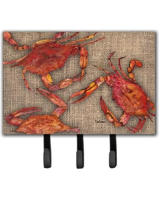 Caroline's Treasures Cooked Crabs Leash Holder and Key Holder 8742TH68