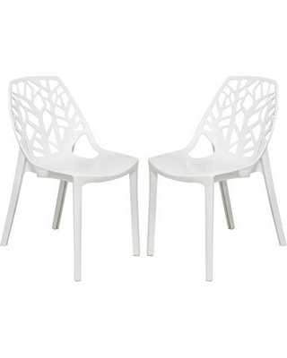 Ivy Bronx Kimonte Stacking Dining Chair IVYB4795 Color: Solid White