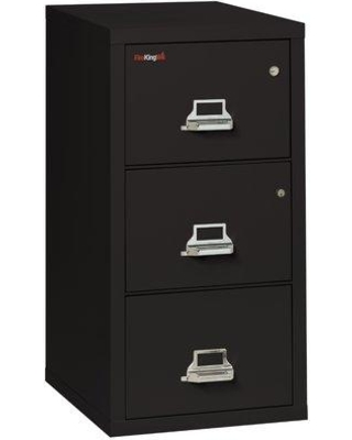 FireKing Legal Safe-In-A-File Fireproof 3-Drawer Vertical File Cabinet Color: Black, Interior Color: Parchment, Steel/Metal in Parchment/Black
