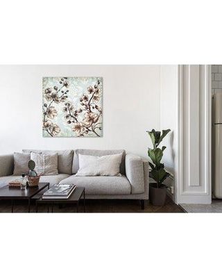 "Ophelia & Co. 'Toile Blossoms II' Print on Wrapped Canvas OPCO4492 Size: 12"" H x 12"" W"