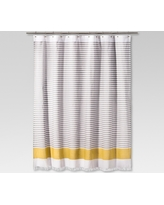 Dyed Shower Curtain Stripe Summer Wheat - Project 62
