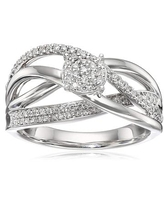 1/3 ct Diamond Woven Ring in 10K White Gold (.34 cttw, H-I Color, I2 Clarity)