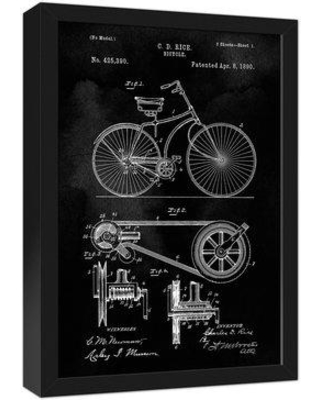 Williston Forge Williston Forge 'Bike Patent on Black' Framed Graphic Art  Print on Canvas BF111079 from Wayfair | Real Simple