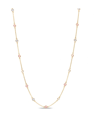 Tresor Collection - Multicolor Fin Long Necklace In 18K Rose Gold