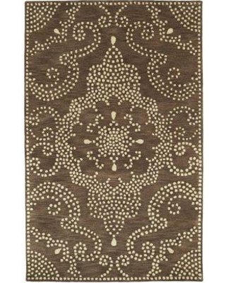 "House of Hampton Bashford Hand Tufted Brown/Beige Area Rug HOHM1990 Rug Size: Rectangle 3'6"" x 5'6"""