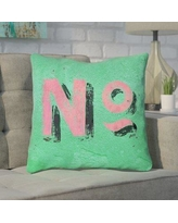 """Brayden Studio Enciso Graphic Square Indoor Wall Throw Pillow BYST5106 Size: 18"""" x 18"""", Color: Green/Pink"""