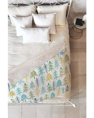 """East Urban Home Heather Dutton Oh Christmas Tree Frost Throw ETUM1548 Size: 50"""" W x 60"""" L"""