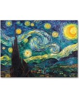 Starry Night 35 x 47 Canvas Wall Art by Vincent van Gogh, Blue