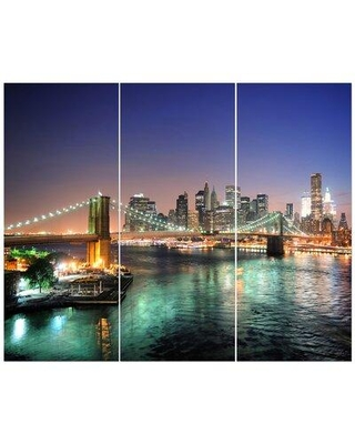 East Urban Home 'New York City Manhattan Downtown' Photographic Print Multi-Piece Image on Wrapped Canvas FCIV6152