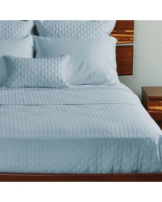 1pc King/Cal King 100% Rayon from Bamboo Quilted Coverlet Sky- BedVoyage