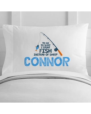 Personalized Toddler Fishing Pillow Case