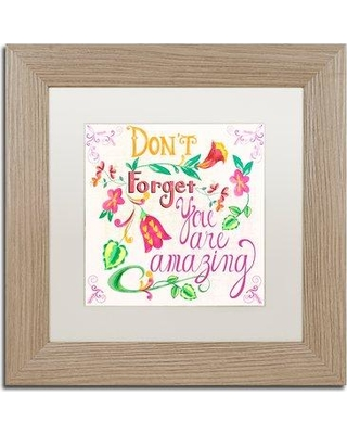"East Urban Home 'You are Amazing' Picture Frame Textual Art on Canvas EBHV6814 Matte Color: White Size: 11"" H x 11"" W x 0.5"" D"