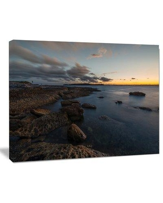 Design Art Sunset at La Perouse Beach Sydney Large Seashore Photographic Print on Wrapped Canvas, Canvas & Fabric in Blue/Gray | Wayfair