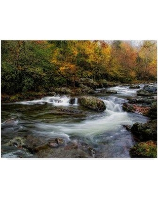 """Millwood Pines 'Autumn Dream Rocks' Graphic Art Print on Wrapped Canvas MIPN1343 Size: 18"""" H x 24"""" W x 2"""" D"""