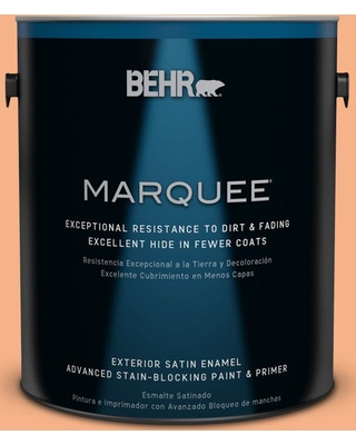 BEHR MARQUEE 1 gal. #250D-4 Autumn Mist Satin Enamel Exterior Paint and Primer in One