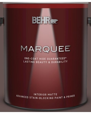 BEHR MARQUEE 1 gal. #BNC-33 Harvest Oak Matte Interior Paint and Primer in One