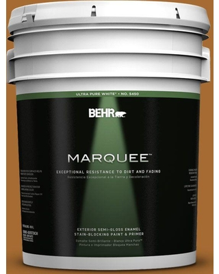 BEHR MARQUEE 5 gal. #280D-7 Sesame Crunch Semi-Gloss Enamel Exterior Paint and Primer in One