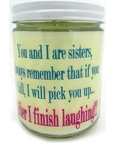 """StarHollowCandleCo """"Sisters"""" scented Jar Candle QISISTERSOC"""