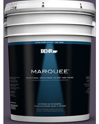 BEHR MARQUEE 5 gal. #660F-7 Napa Grape Satin Enamel Exterior Paint and Primer in One