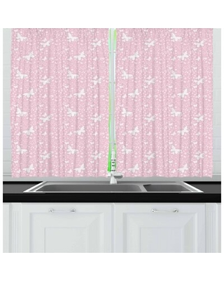 Butterfly Kitchen Curtain East Urban Home