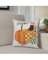 The Holiday Aisle Pumpkin Patch Owl Pillow Cover THDA5437