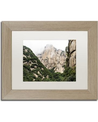 """Trademark Art """"Mt Huashan IV"""" by Philippe Hugonnard Framed Photographic Print PH0363-T1 Size: 11"""" H x 14"""" W x 0.5"""" D Matte Color: White"""