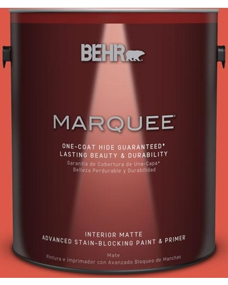 BEHR MARQUEE 1 gal. #T12-7 Red Wire Matte Interior Paint and Primer in One