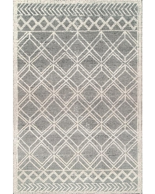 nuLOOM 8 x 10 Ivory Indoor Trellis Handcrafted Area Rug in Off-White   VESR01A-76096