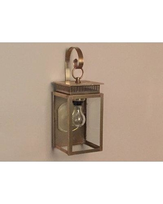 Brass Traditions 1800 Series 1-Light Outdoor Wall Lantern 1821 Fixture Finish: Antique Copper Shade Finish: Seedy