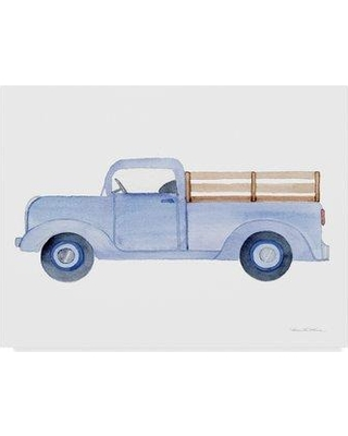 """Gracie Oaks Life on the Farm Truck Element' Acrylic Painting Print on Wrapped Canvas GRCK2397 Size: 18"""" H x 24"""" W x 2"""" D"""