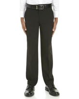 IZOD 001 Black Boys 8-20 Basic Stretch Dress Pants
