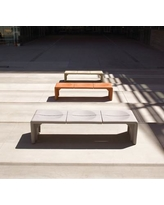 Peter Pepper Crater Bench CR77 Color: Taupe