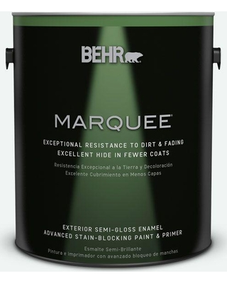 BEHR MARQUEE 1 gal. #T13-14 Heavy Sugar Semi-Gloss Enamel Exterior Paint and Primer in One