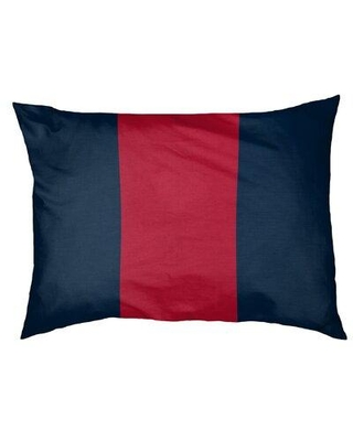 "East Urban Home New England Dog Bed Pillow EBJR4454 Size: Small (28"" W x 18"" D x 6"" H) Color: Blue/Red"