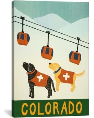 """Andover Mills™ 'Colorado Ski Patrol' Graphic Art on Wrapped Canvas, Canvas and Fabric, Size 26"""" H x 18"""" W x 0.75"""" D 