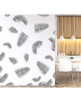 Palm Fronds Wall Decal, Gray