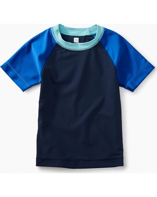 Tea Collection Short Sleeve Raglan Rash Guard