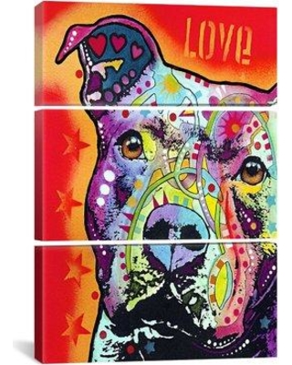Shop For Latitude Run Thoughtful Pit Bull 3 Piece Graphic Art On Wrapped Canvas Set Canvas Fabric In Red Brown Size 90 H X 60 W X 1 5 D Wayfair