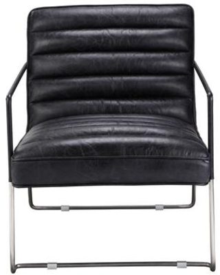 Desmond Collection PK-1045-02 Club Chair with Iron Frame in Black