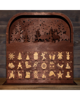 Christmas Advent Calendar   Personalised Christmas Calendar   24 Drawers With Super Detailed Engraving   Christmas Countdown 2021