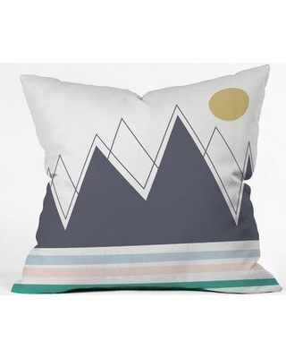 """East Urban Home Vy La in the Mountains Indoor/Outdoor Throw Pillow EBHS7505 Size: 16"""" x 16"""""""